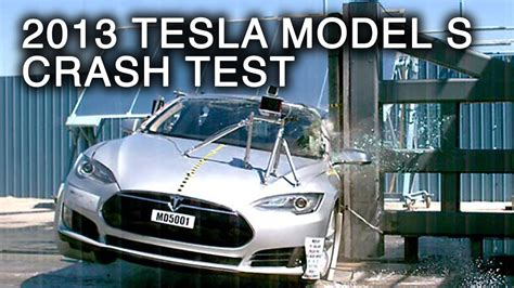 Tesla Model S Crash Rating 2013 Tesla Model S Pole Crash Test By Nhtsa Crashnet1