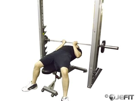 bench press with smith machine smith machine reverse grip bench press exercise database