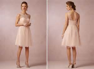 Inspiration blush bridesmaid dresses