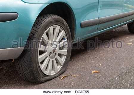 Car Tires Melting Point Puncture Punctured Car Tyre Tire With Sharp