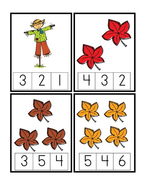 Free Fall Math Worksheets by April 2012 Preschool Printables