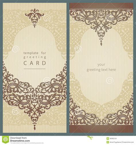 design note cards template vintage greeting cards stock vector image of frame