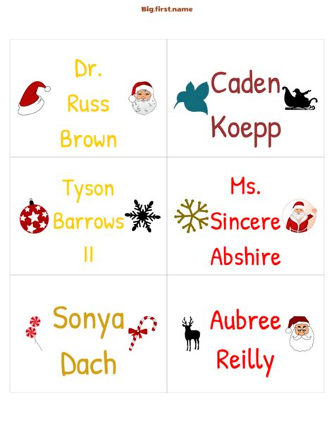 christmas place name cards christmas party badges big