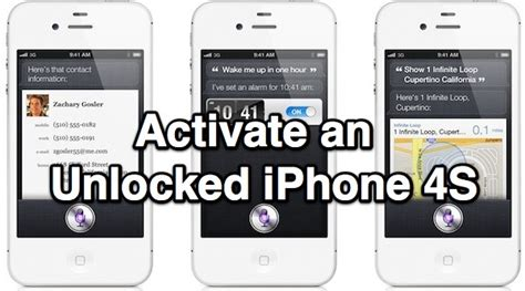 how to activate at t iphone how to activate an unlocked iphone 4s