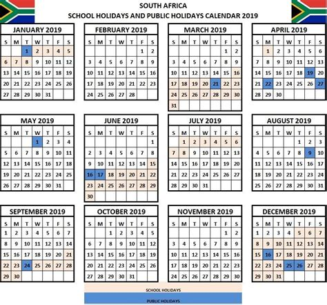 school holidays  calendar sa south africa holiday calendar printable