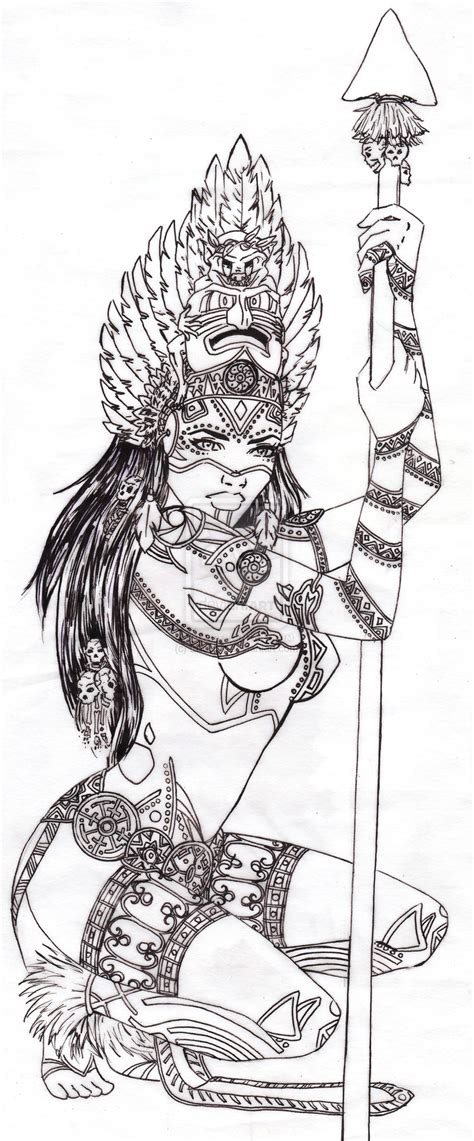 Chicano Aztec Art Warriors Car Interior Design Aztec Warrior Tattoos Drawings