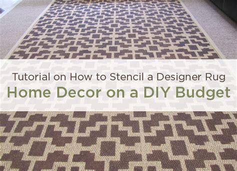 home decor stencils home decor stencil tutorial diy designer rug cutting