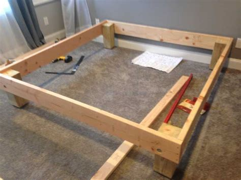Diy King Size Bed Frame King Sized Deck Diy Bed Frame With Foundation For 100 The Mattress Underground