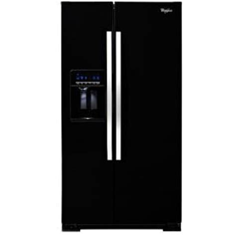 whirlpool 26 4 cu ft side by side refrigerator in black wrs526siae the home depot