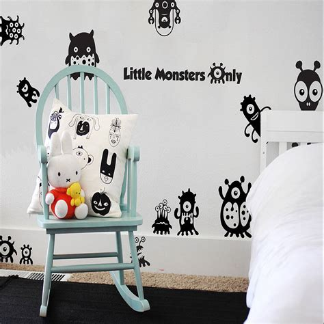 notonthehighstreet wall stickers monsters only wall stickers by snuggledust studios notonthehighstreet