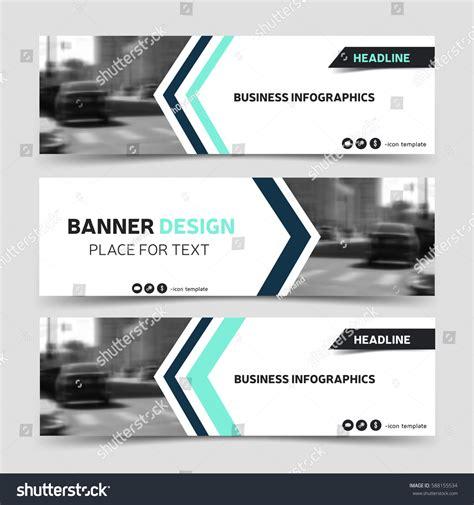 Three Horizontal Business Banner Templates Vector Stock Vector 588155534 Shutterstock Technology Banner Template