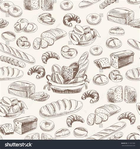 vintage pattern sketch vector bakery retro seamless pattern vintage illustration