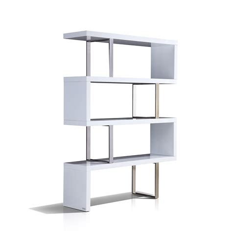 Scala Collection Bookcase High Gloss White White High Gloss Bookcase