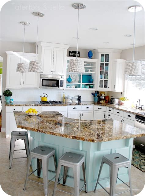 aqua and white kitchen makeover gloria zastko realtors brunswick nj central nj real estate