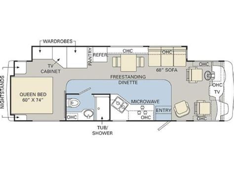 monaco rv floor plans 2008 monaco monarch 33sfs photos details brochure floorplan