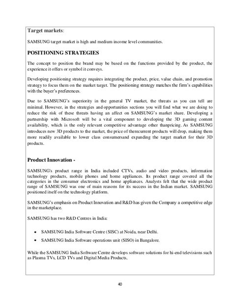 Target Market Analysis Essay by Positioning Statement Of Samsung Essay Thedrudgereort280 Web Fc2