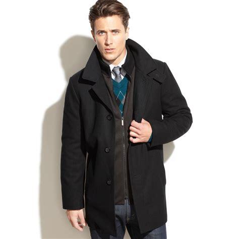 Kaos Ben Sherman Londonsmlxl 1 kenneth cole new york eliot wool blend coat slim fit in black for lyst