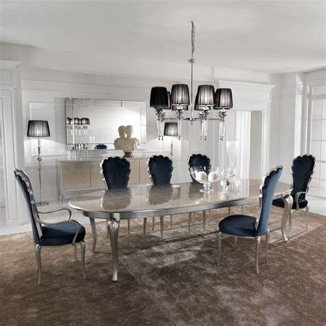 silver dining room chairs silver leaf dining set including navy blue velvet chairs