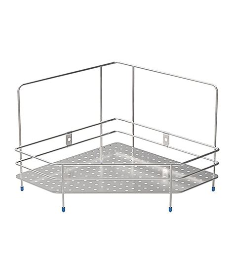 Shelf Of Saffron by Buy Saffron Stainless Steel Corner Shelf At Low