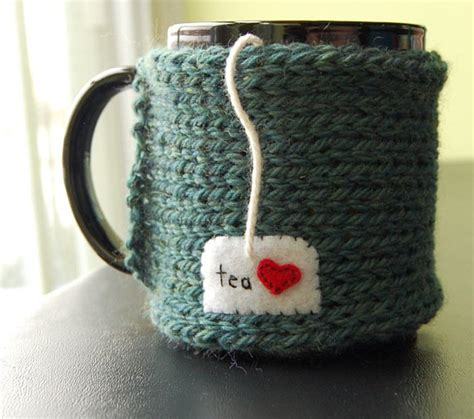 how to knit a mug cosy tea mug cozy knitted chai cup cosy