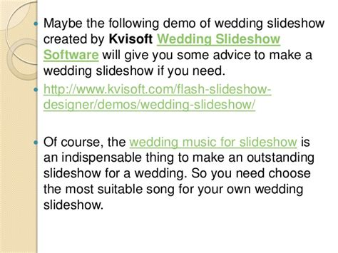 Wedding Songs Slideshow by Ideas For Wedding Slideshow Songs
