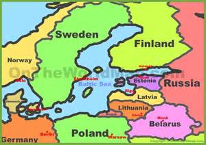 Baltic States Map by Baltic States Map