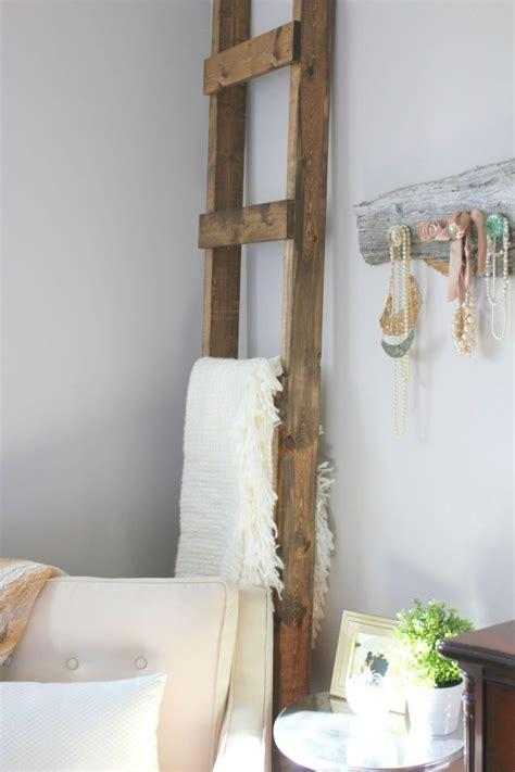blanket ladder diy for flat pinterest 30 minute diy blanket ladder