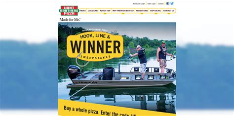 Hunt Brothers Pizza Sweepstakes - hunt brothers pizza hook line winner sweepstakes