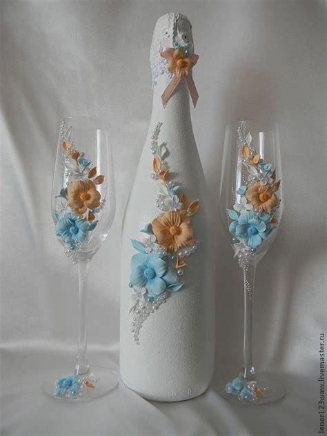 wine bottles decorated with glass http cs2 livemaster ru foto large c8b11042755 svadebnyj