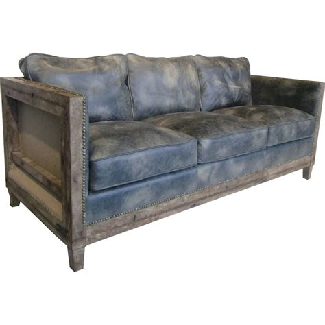distressed light brown leather sofa this top grain leather sofa features a contemporary style