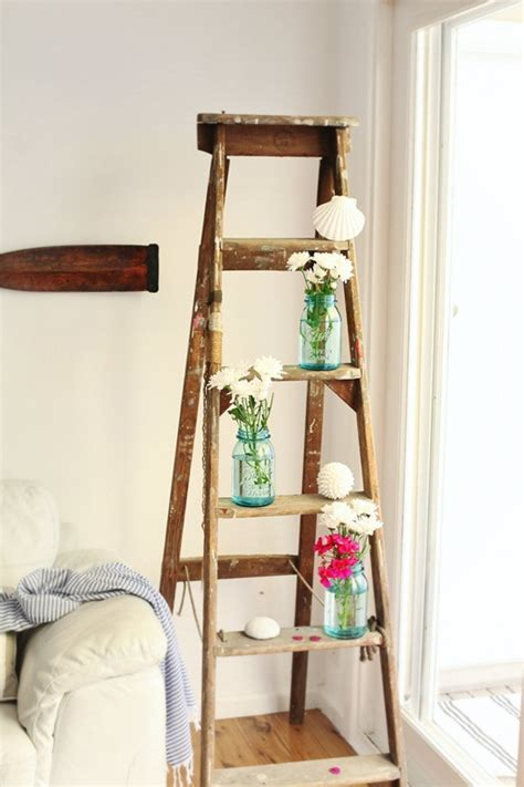 Second Hand Home Decor Online Beach Cottage Diy Decor How To Decorate Vintage Ladders