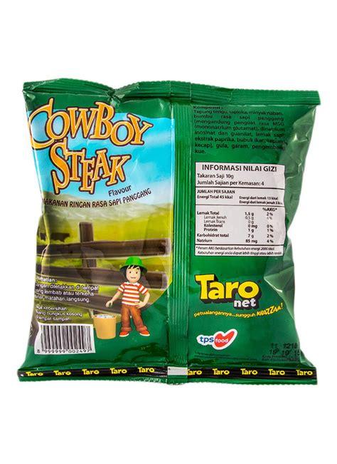 taro snack net  cowboy steak pck  klikindomaret