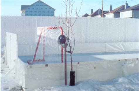 my backyard ice rink backyard ice rinks liner method