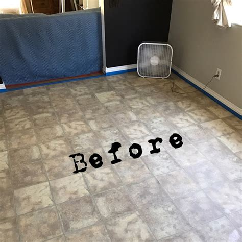 Jazz Up An Old Kitchen Floor With A Tile Stencil