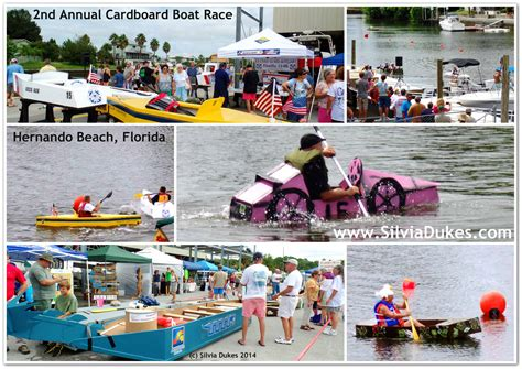 cardboard boat race florida 2nd annual cardboard boat race in hernando beach 2014