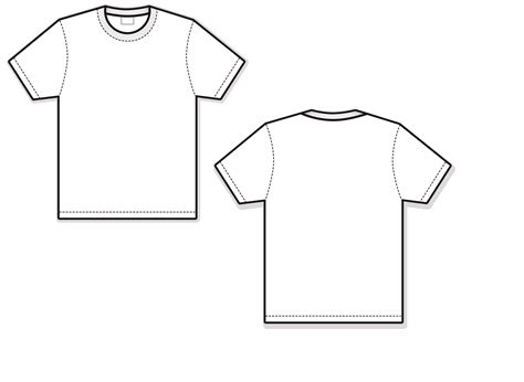 blank shirt template t shirt template vector front and back www imgkid