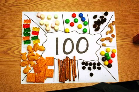 100 day snack sorting mat eberhart s explorers hip hip hooray for the 100th day