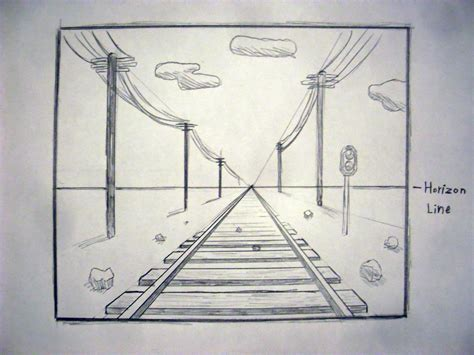 How to draw in perspective one point drawing lessons