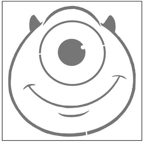 mike wazowski pumpkin template 47 best images about stencil infantil on