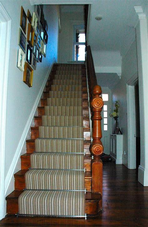 striped carpet stair runner  stairrods highdown
