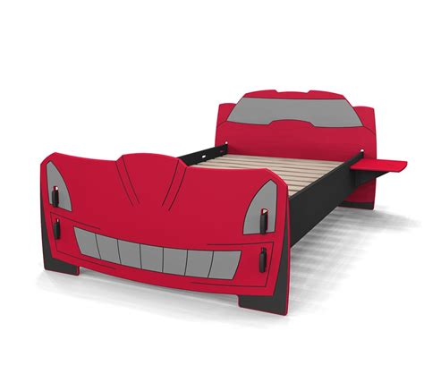 cars twin bed dreamfurniture com race car twin bed in red and black finish