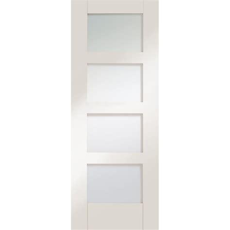 White Glass Door Door Depot 187 Archive 187 Xl White Primed Shaker 4 Light Door With Clear Glass