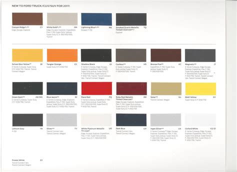 ford colors has ford published 2017 color names page 4 ford truck