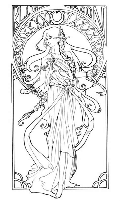 alphonse mucha coloring pages coloring pages