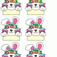 printable name tags easter bunny tag