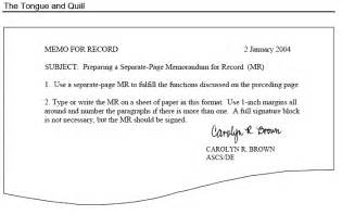 Air Memo For Record Template by Memo For Record