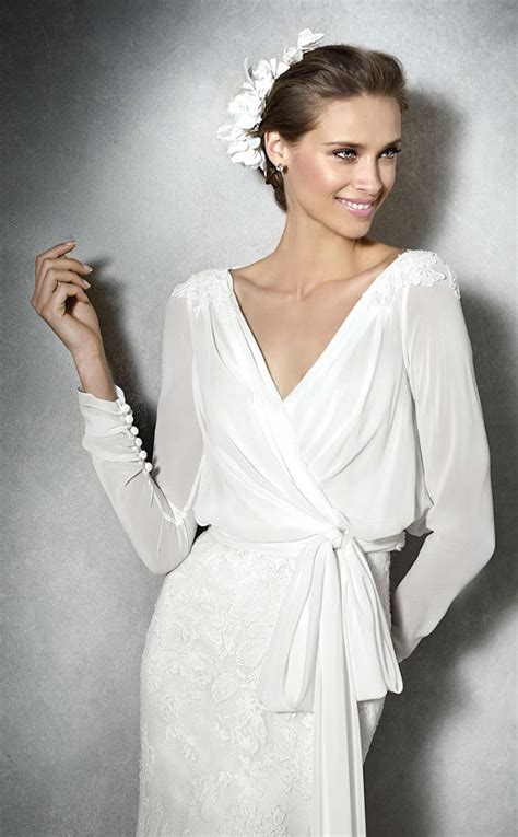 Wrap Style Wedding Dresses by Modest Wedding Dresses With Pretty Details Modwedding