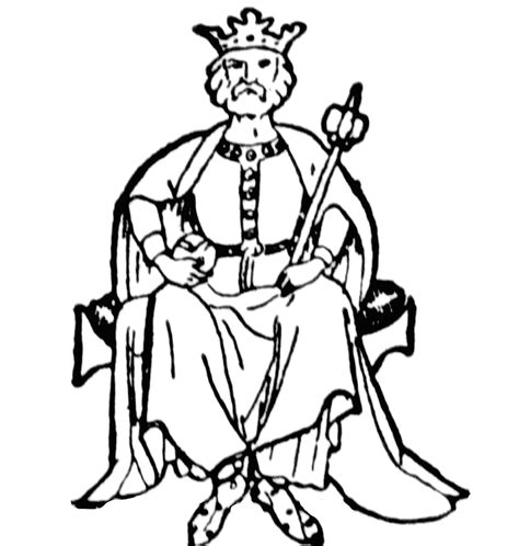 King David Outline by King Clipart Etc