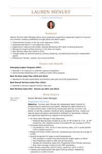 Territory Sales Manager Resume by Directeur Des Ventes De Territoire Exemple De Cv Base De Donn 233 Es Des Cv De Visualcv