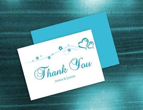 word document thank you card template diy printable wedding thank you card template 2410844
